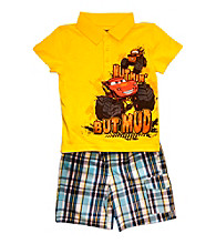 Cars Boys' 2T-4T Yellow 2-pc. Polo and Shorts Set