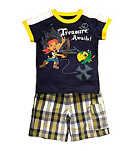 Disney® Boys' 2T-4T Navy 2-pc. Jake the Pirate Shorts Set