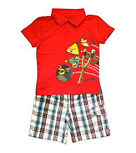 Angry Birds™ Boys' 2T-4T Red 2-pc. Polo and Shorts Set