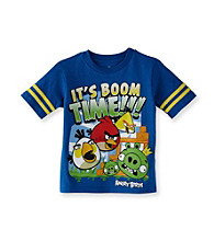 Angry Birds™ Boys' 8-20 Royal Blue Short Sleeve Boom Time Tee