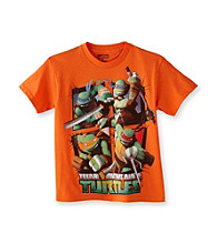 Nickelodeon® Boys' 8-20 Orange Short Sleeve TMNT Multi Character Tee