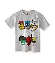 Marvel® Boys' 8-20 Grey Short Sleeve Multi Character Tee
