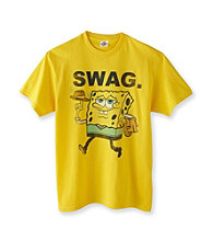 Nickelodeon® Boys' 4-20 Yellow Short Sleeve Spongebob Swag Tee