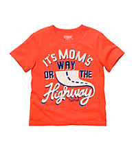 OshKosh B'Gosh® Boys' 2T-4T Orange Short Sleeve Mom's Way Tee