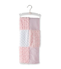 Cuddle Bear® Girls' Pink Patchwork Textured Blanket with Fleece