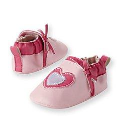 Cuddle Bear® Baby Girls' Pink Heart Faux Leather Prewalker Slip-on