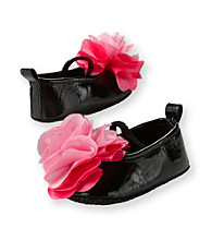 Cuddle Bear® Baby Girls' Black Prewalker Ballet Flat