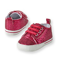 Cuddle Bear® Baby Girls' Pink Sparkle Prewalker Sneaker
