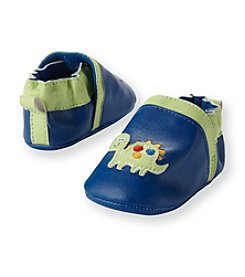 Cuddle Bear® Baby Boys' Blue Dino Faux Leather Prewalker Slip-on