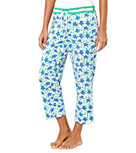 Nautica® Knit Capris - Navy Simple Floral