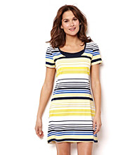 Nautica® Knit Chemise - Snapdragon Yellow Stripe