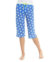 Jockey® Knit Capris - Blue Starfish