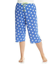 Jockey® Plus Size Knit Capris - Blue Starfish