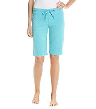 HUE® Baby Terry Knit Bermuda Shorts - Beach Blue