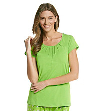 HUE® Tucked Top - Envy Green