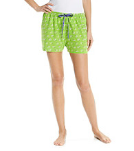 HUE® Knit Boxer Shorts - Escargot Green