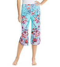 Oneworld® Knit Capris - Thinking Aloud Teal