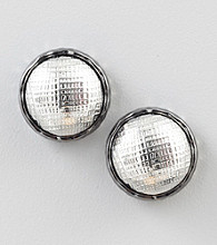 Relativity® Silvertone Textured Button Earrings