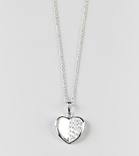 Designs by FMC Sterling Silver Cubic Zirconia Heart Pendant Necklace