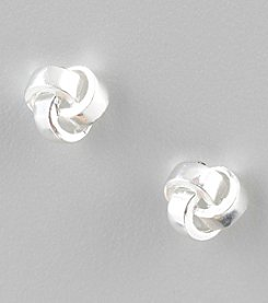Designs by FMC Sterling Silver Love Knot Button Earrings