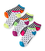 Steve Madden 6-pk. Low Cut Socks - Dots/Stripes