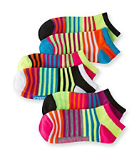 Steve Madden 6-pk. Low Cut Socks - Neon Stripes