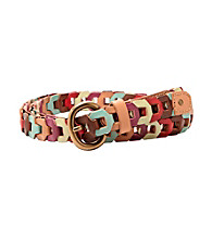 Fossil® Bright Multi Square Link Jean Belt