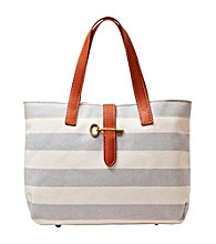 Fossil® Grey Austin Stripe Shopper