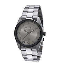 Kenneth Cole New York® Men's Classic Three Hand Grey Dial Stainless Steel Bracelet Watch