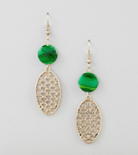 Erica Lyons® Preppy Chic Pierced Earrings