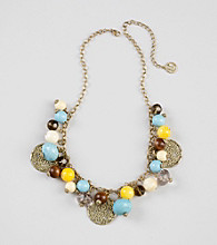 Erica Lyons® Cool Multi Color Block Short Necklace