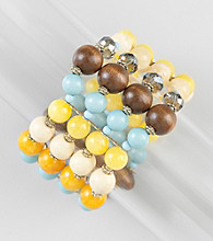 Erica Lyons® Cool Multi Color Block Stretch Bracelet