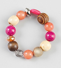 Erica Lyons® Warm Multi Color Block Stretch Bracelet