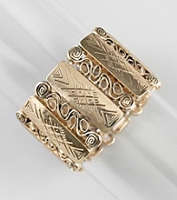 Erica Lyons® Goldtone New Stretch Bracelet