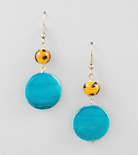 Erica Lyons® Carnival Drop Pierced Earrings