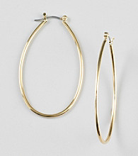 Lauren Ralph Lauren Goldtone Pear Shaped Hoop Earrings