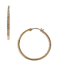 Fossil® Small Glitz Circle Hoop Earrings in Polished Goldtone