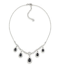 Carolee® Simply Jet Pave Drop Necklace