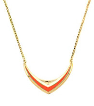 BCBGeneration™ Beatrix Kiddo Goldtone and Coral Necklace