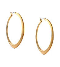 BCBGeneration™ Core Strength Goldtone Hoop Earrings
