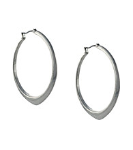 BCBGeneration™ Core Strength Silvertone Hoop Earrings