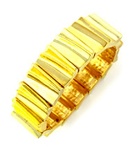 BCBGeneration™ Hit the Basics Goldtone Stretch Bracelet