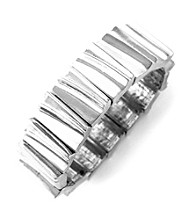 BCBGeneration™ Hit the Basics Silvertone Stretch Bracelet