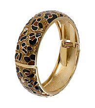 Betsey Johnson® Leopard Hinged Bangle Bracelet