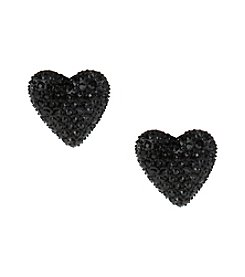 Betsey Johnson® Black Heart Stud Earrings