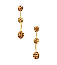 Anne Klein® Goldtone and Topaz Fireball Earrings