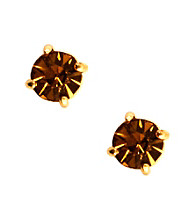 Anne Klein® Goldtone and Topaz Stud Earrings