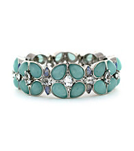 Jessica Simpson Silvertone All a Flutter Stretch Bracelet