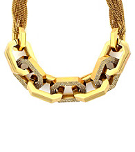 Vince Camuto™ Goldtone Modern Link Pave Statement Necklace
