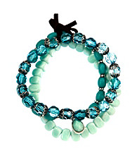 Nine West Vintage America Collection® Set of Three Turquoise Stretch Bracelets